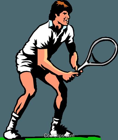 404x480 Tennis Player Royalty Free Vector Clip Art Illustration Peop0209