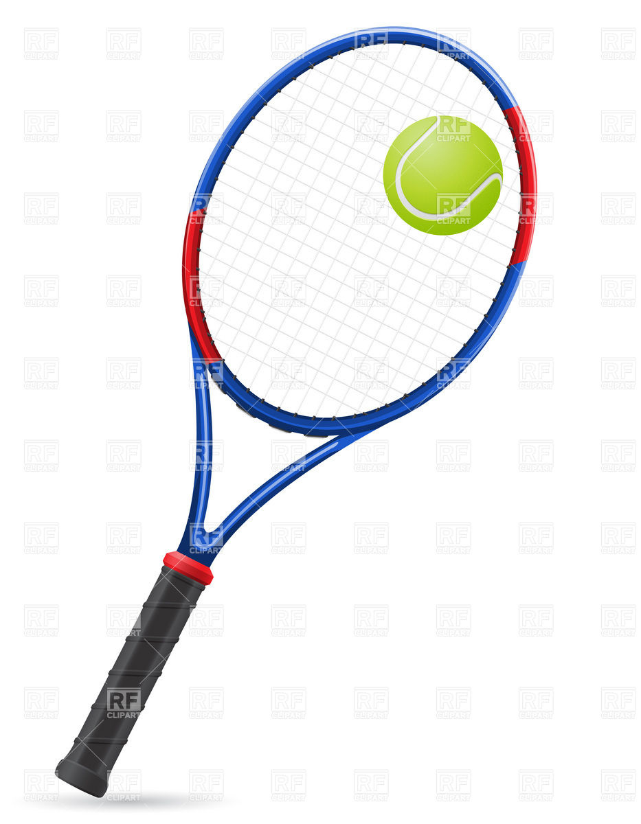 933x1200 Tennis Racket And Ball Royalty Free Vector Clip Art Image