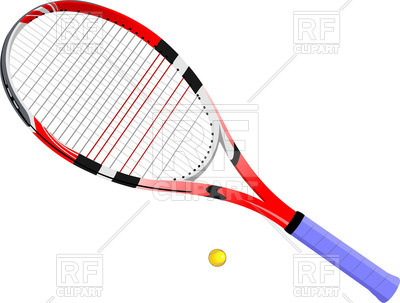 400x303 Tennis Racket And Ball Royalty Free Vector Clip Art Image