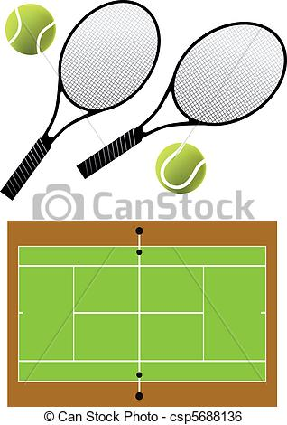 318x470 Tennis Racket And Balls, Vector. Tennis Rackets, Balls And Clip