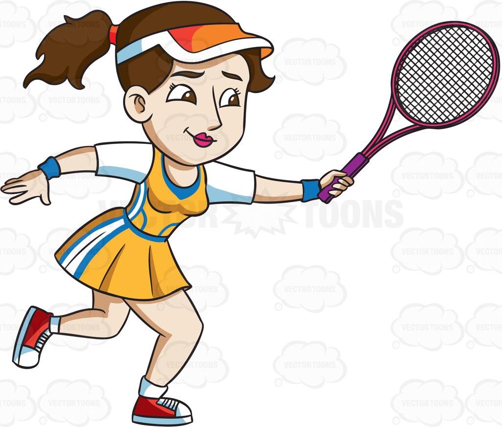 1024x872 Tennis Racket Clipart Vector Toons
