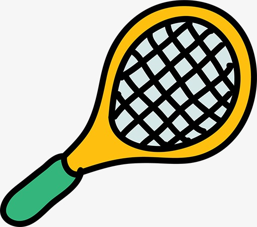 512x453 Cartoon Tennis Racket, Hand Painted, Cartoon, Tennis Racket Png