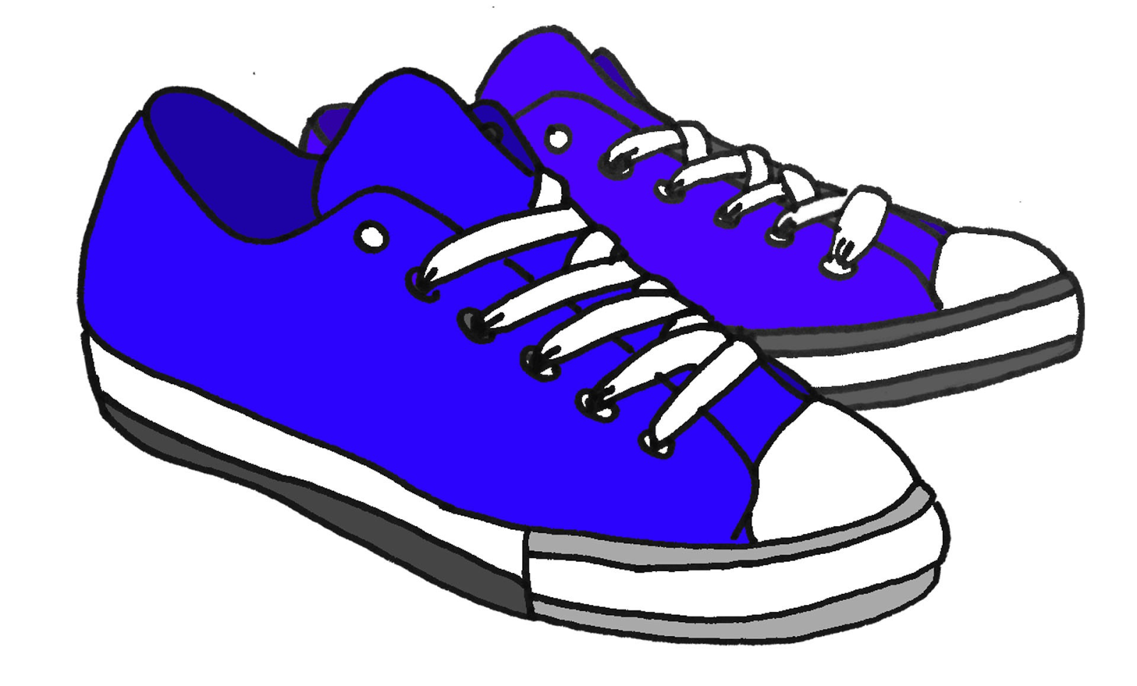 1600x966 Red Tennis Shoes Clipart