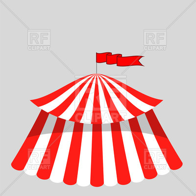 400x400 Circus Tent Icon Royalty Free Vector Clip Art Image