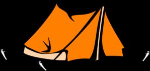 298x141 Orange Tent Clip Art