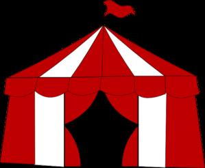 299x246 Blue Circus Tent. Clip Art