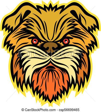 422x470 Affenpinscher Monkey Dog Mascot. Mascot Icon Illustration