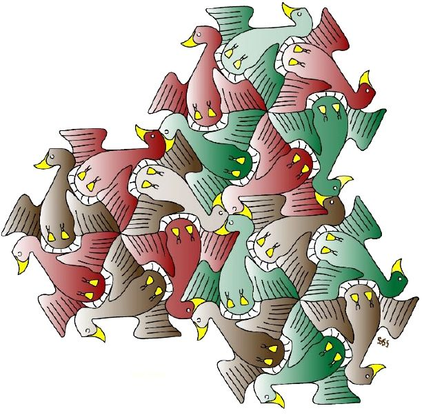 615x602 Pin By Mark Stapel On Escher Like Tessellations