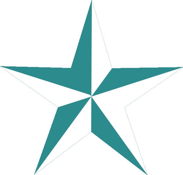 600x572 Texas Star In Teal Clip Art