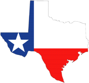 300x279 Texas Outline With Flag Clip Art
