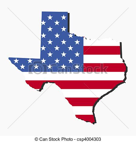 450x470 Texas Map Flag. Map Of The State Of Texas And American Flag