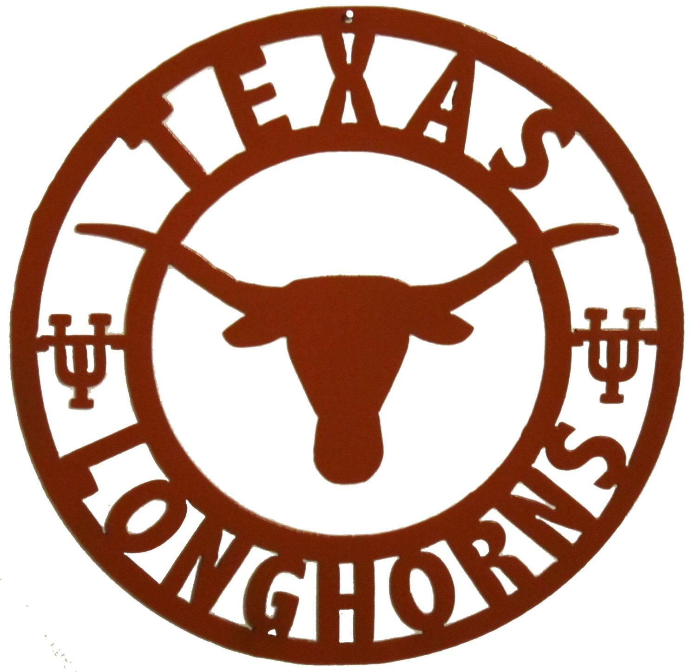 1500x1445 Texas Longhorns Sign Metal