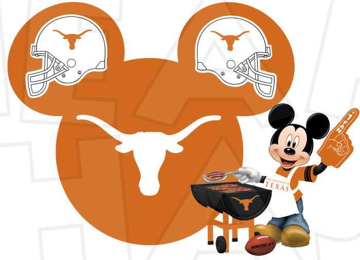 700x506 Texas Longhorns Football With Mickey Mouse Instant Download