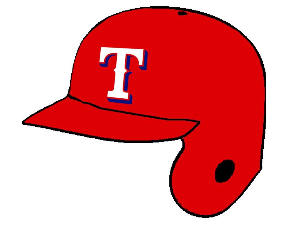 1017x786 Texas Rangers Red Batting Helmet By Chenglor55