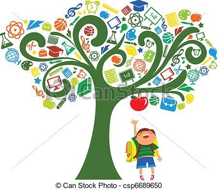 450x392 Education Symbols Clip Art Back To School Tree With Education