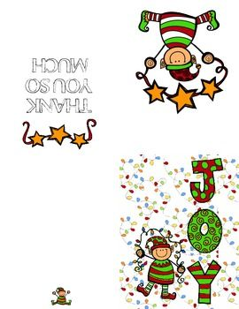 270x350 Elf Christmas Thank You Card Elves, Navidad And Clip Art