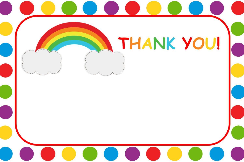 1500x1000 Rainbow Thank You Card