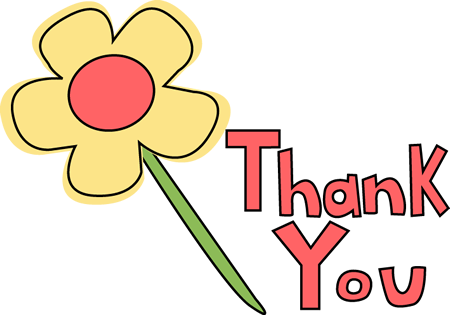 450x315 Images Of Thank You Clip Art Thank You Flower