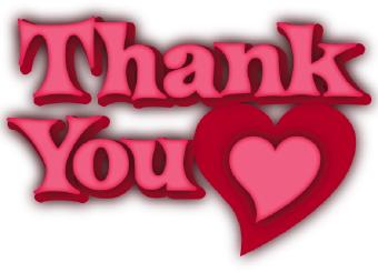 340x246 Thank You Heart Clip Art