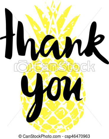 369x470 Vector Thank You Card With Pineapple Clip Art Vector