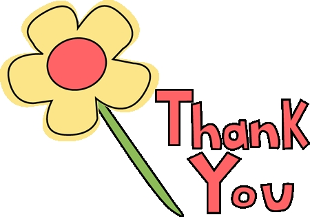 450x315 Flower Thank You Clipart