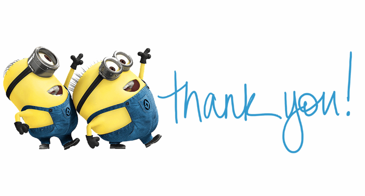 744x400 Collection Of Minion Thank You Clipart High Quality, Free