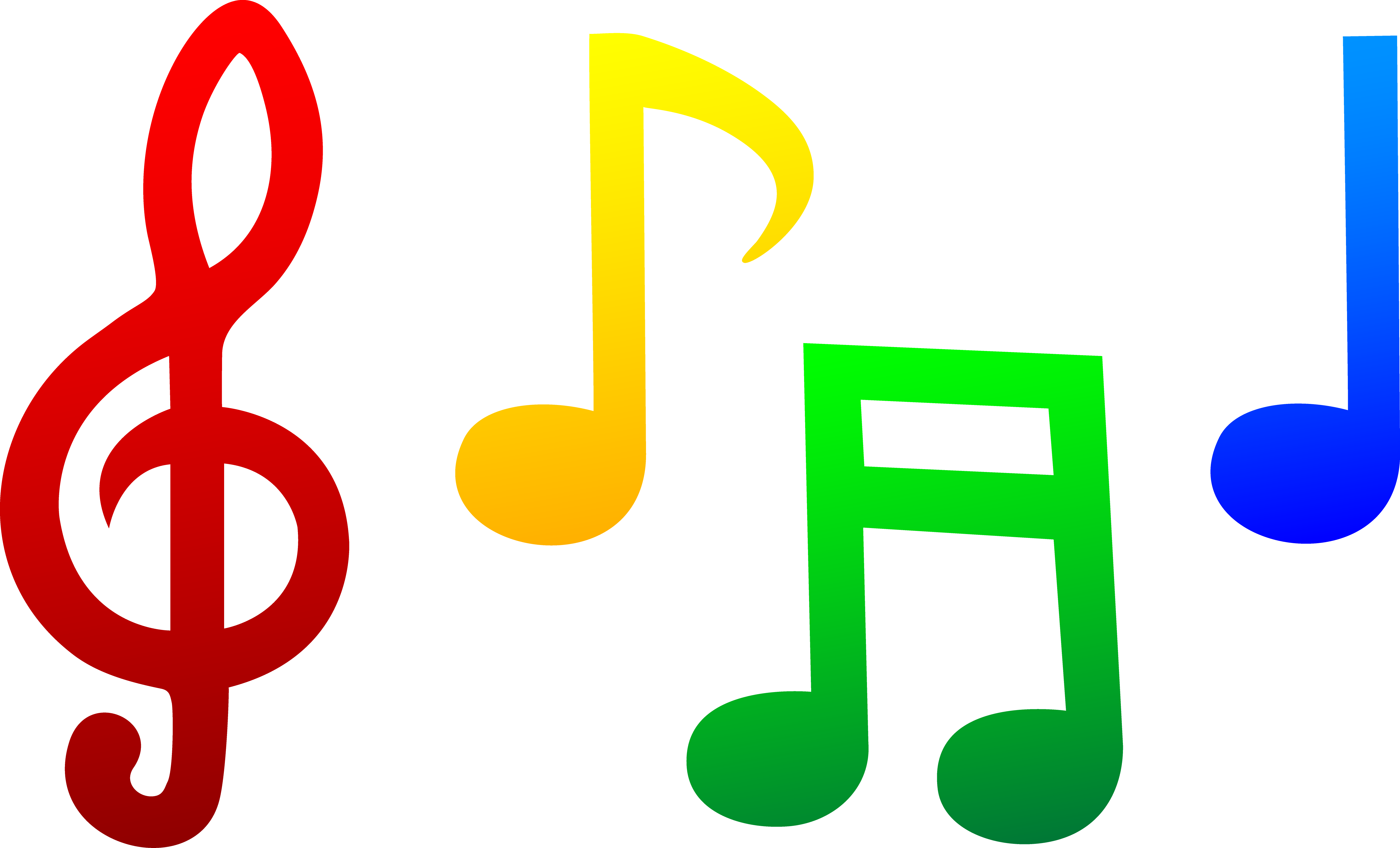 5366x3252 Free Clipart Colorful Music Notes Amp Free Clip Art Colorful Music
