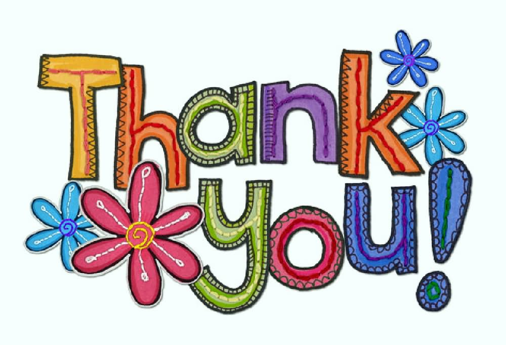 1000x682 Thank You Colorful Clipart