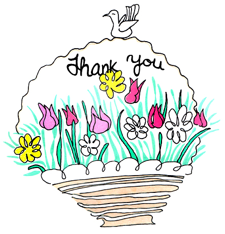 443x461 Thank You Clipart With Flowers Amp Thank You Clip Art With Flowers