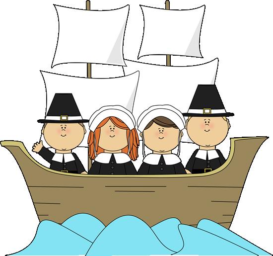 550x515 Free Children Thanksgiving Clip Art Pilgrims On The Mayflower