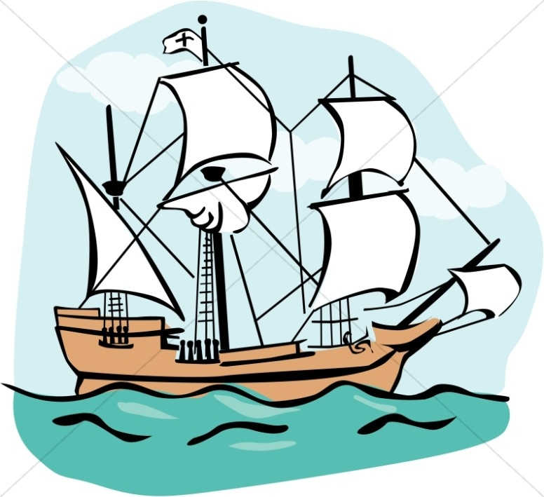776x709 Free Mayflower Clipart