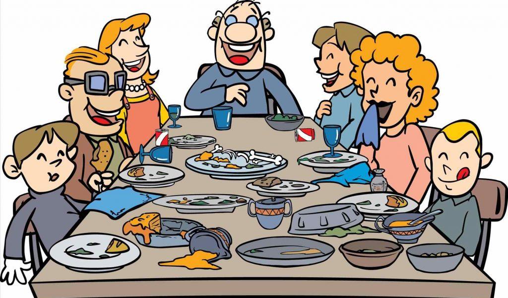1024x600 Extended Stock Vector Sgramcom Sgramcom Thanksgiving Family Dinner