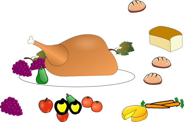 600x398 Thanksgiving Dinner Images Clip Art Turkey Dinner Clip Art Clipart