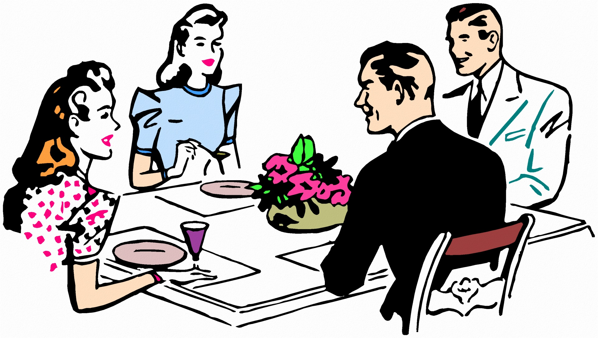 thanksgiving dinner clipart at getdrawings com free for personal rh getdrawings com family dinner clipart free family eating dinner clipart black and white