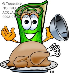 285x300 Clipart Of Carpet Cartoon Character With Thanksgiving Turkey Dinner