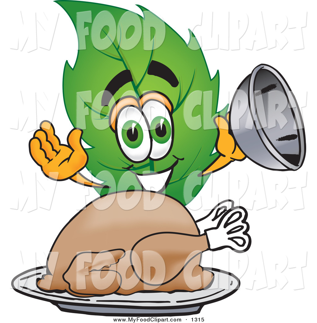 1024x1044 Food Cliprt Of Hungry Leaf Mascot Cartoon Character Serving