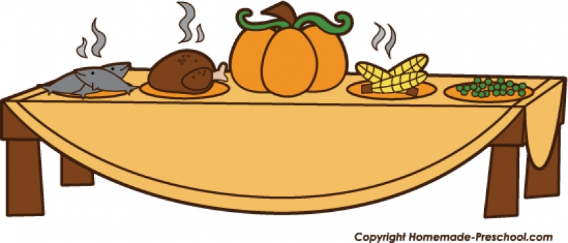 820x351 Collection Of Free Clipart Thanksgiving Dinner High Quality