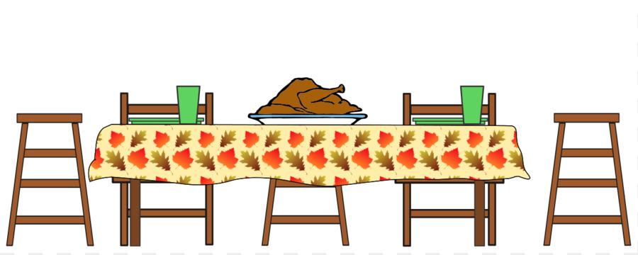 900x360 Table Turkey Thanksgiving Dinner Clip Art