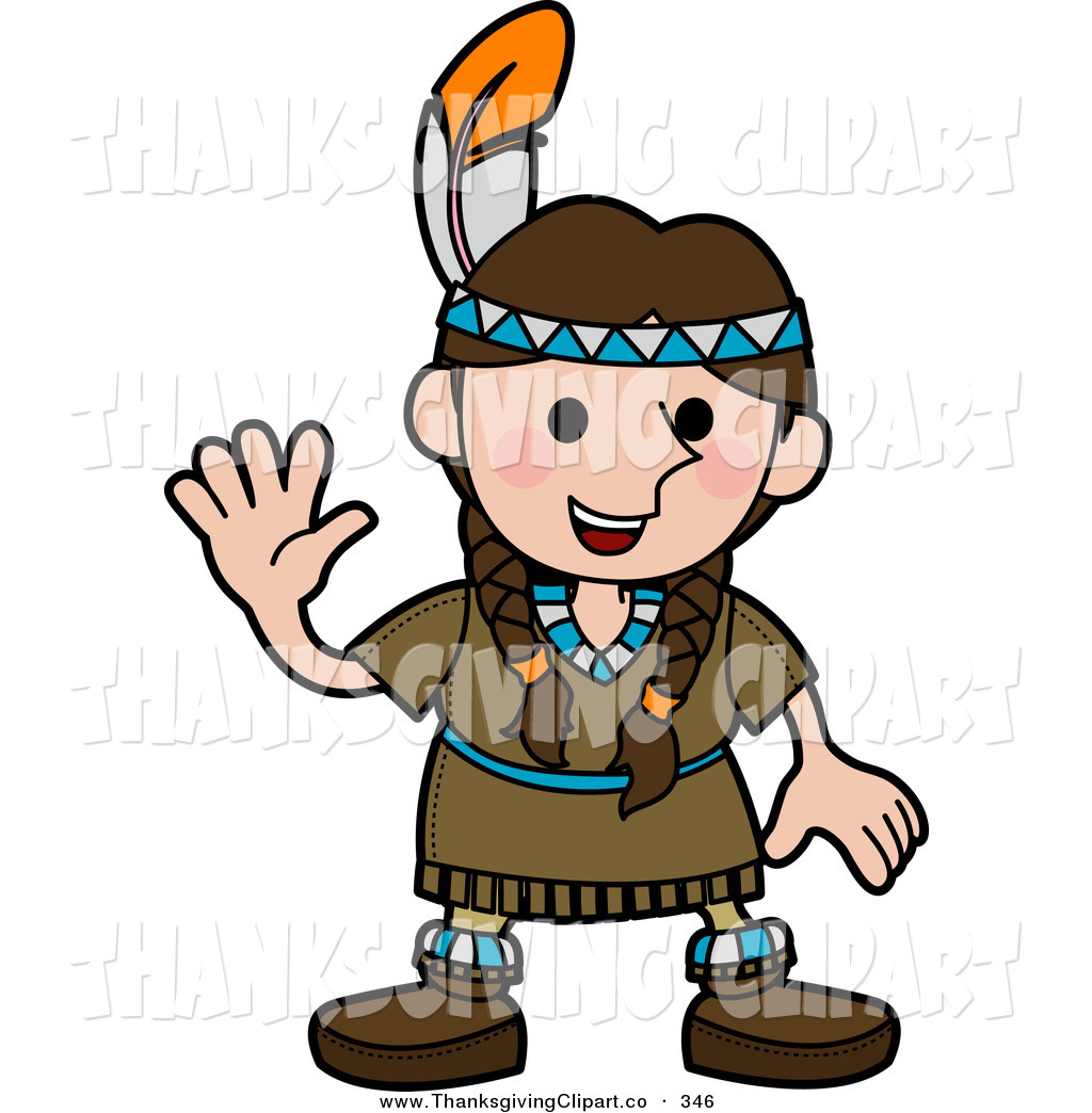 1024x1044 American Indian Girl Clipart