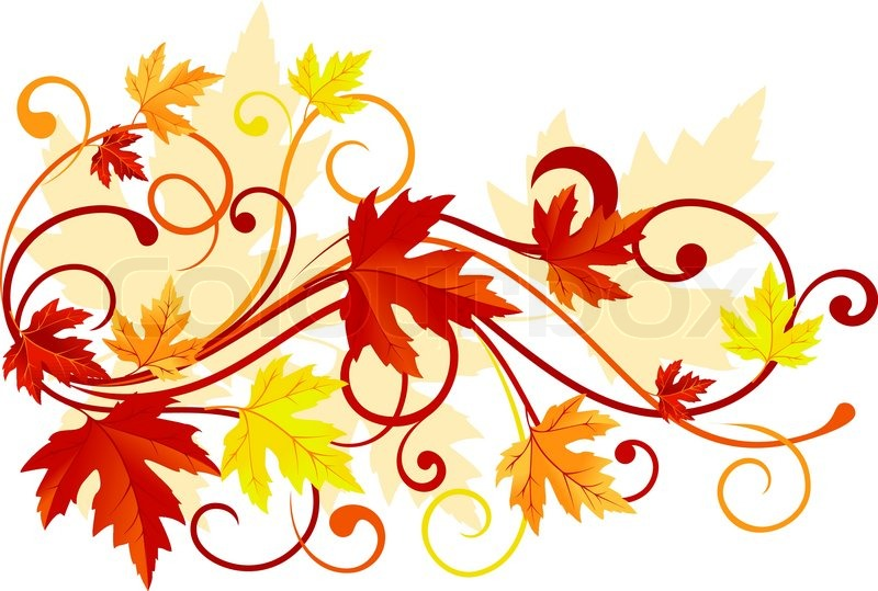 800x539 Autumn Colorful Leaves Background For Thanksgiving Design Stock