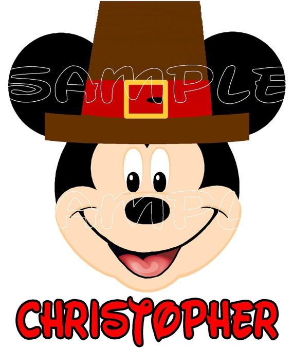 570x677 Pilgrim Clipart Mickey Mouse