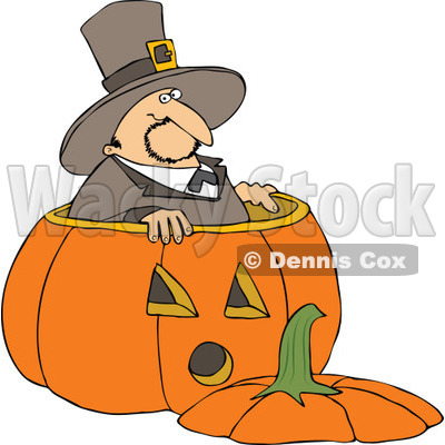 400x400 Royalty Free (Rf) Clipart Illustration Of A Thanksgiving Pilgrim