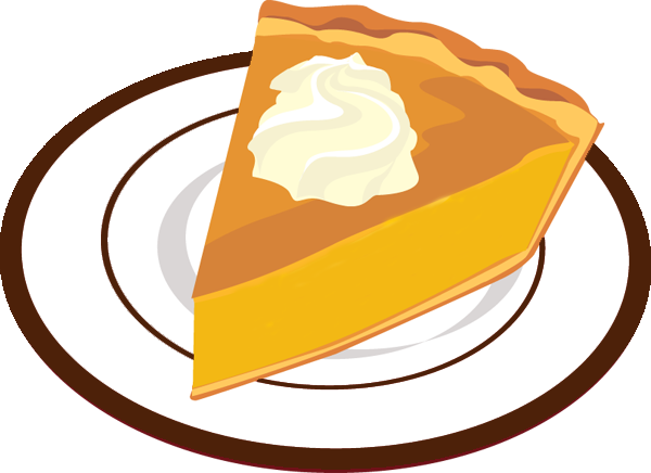 600x436 Thanksgiving Pumpkin Pie Clipart
