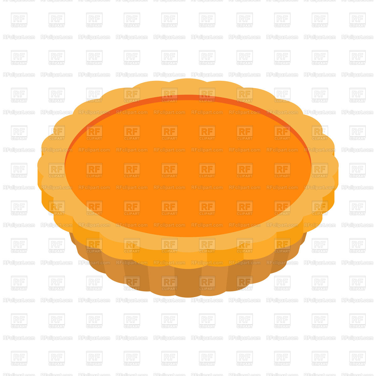 1200x1200 Thanksgiving Pumpkin Pie Isolated Royalty Free Vector Clip Art