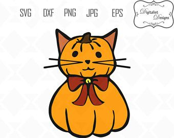 340x270 Pumpkin Clipart Cat Silhouette Thanksgiving Images Fall Svg Kitten
