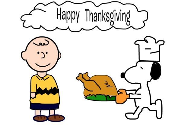600x450 Peanuts Thanksgiving Clipart