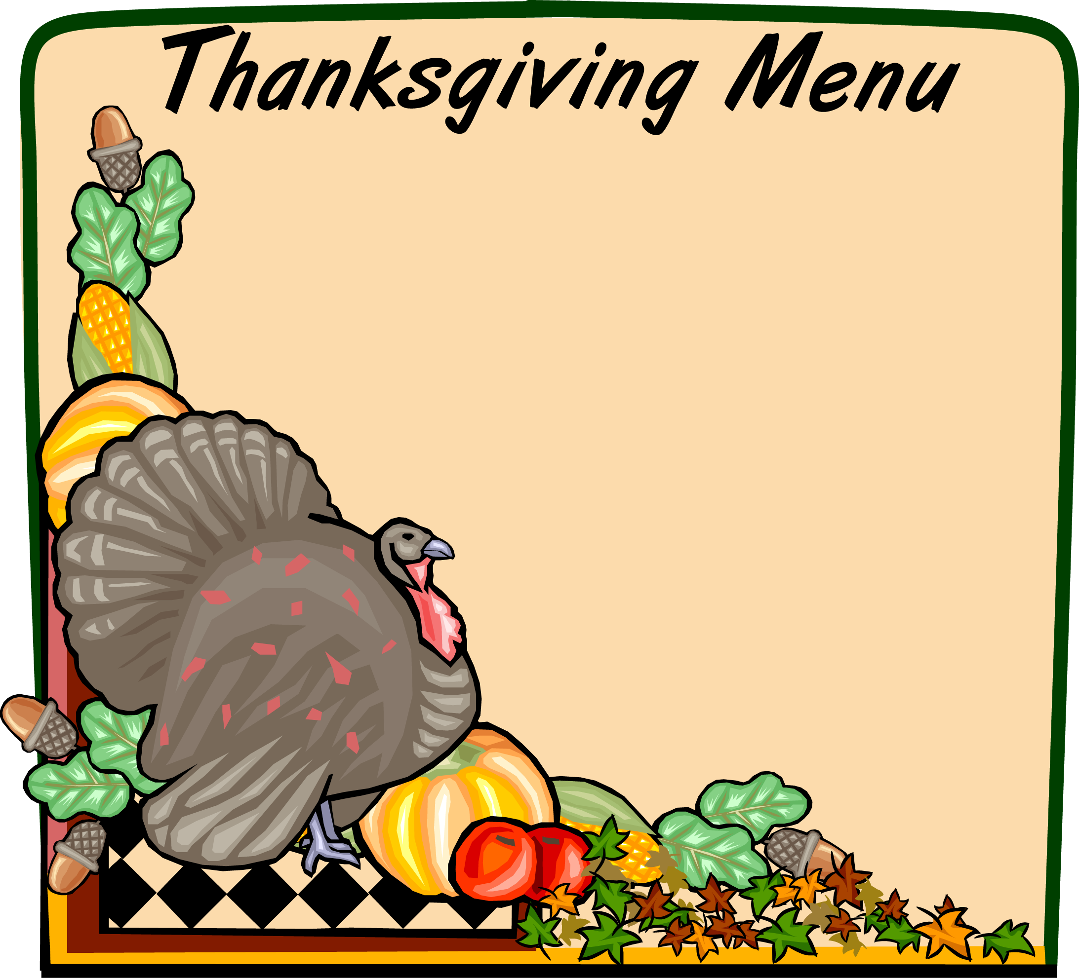 2185x1982 Collection Of Thanksgiving Menu Clip Art High Quality, Free