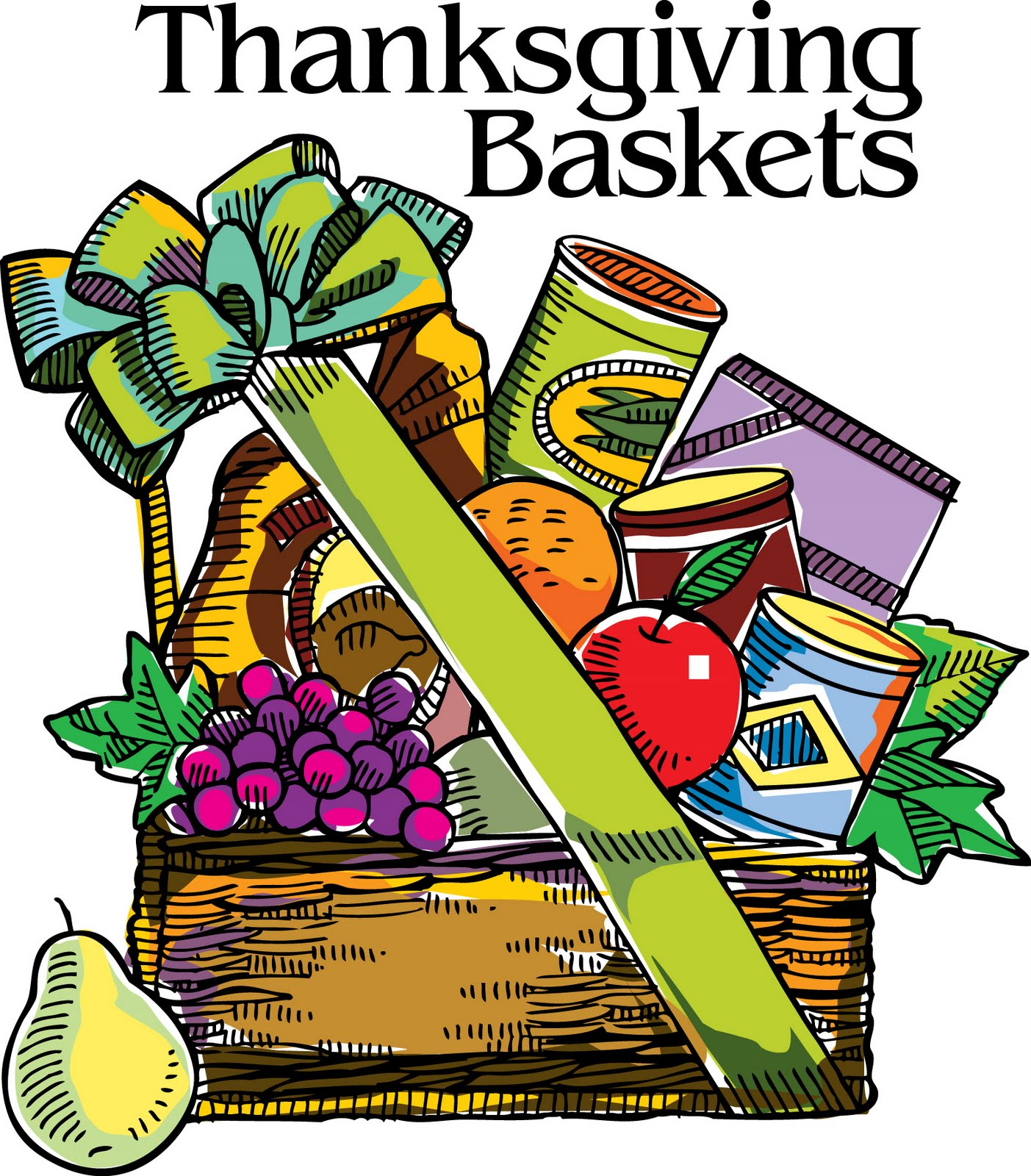 1403x1600 Thanksgiving Food Baskets Clipart