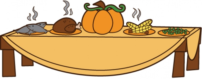 820x321 Collection Of Thanksgiving Table Clipart High Quality, Free