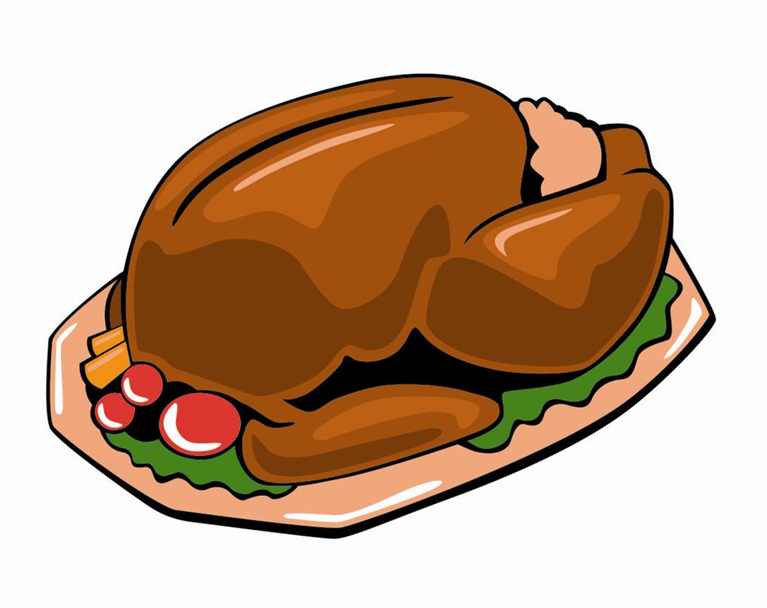 1087x862 Turkey Meat Cartoon Thanksgiving Dinner Clip Art